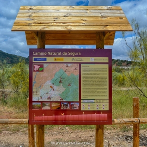 """Panel informativo en la Estación """"Puente de Génave"""" en La Puerta de Segura"""