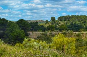Via Verde a su paso por las cercanías de la Aldea de Bonache en La Puerta de Segura