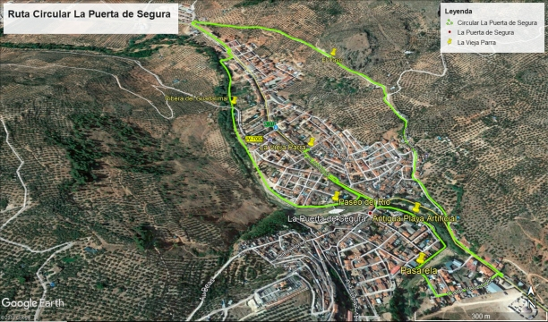 Mapa Ruta Circular La Puerta de Segura